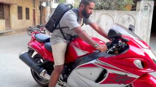 Hayabusa 2017 | In the Streets of Hyderabad | Loud Exhaust
