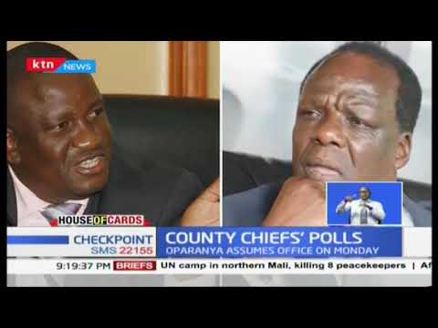 Oparanya set to assume office as Council of Governors chairperson |House of Cards