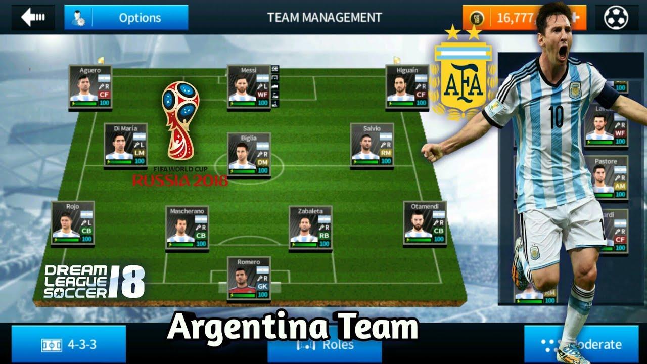 59760cd3e55 Create Argentina World Cup 2018 Team ○ Kit Logo   Players ○ Dream League Soccer  2018