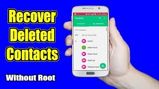 How to Recover Deleted or Lost Contacts from android device (Without root)