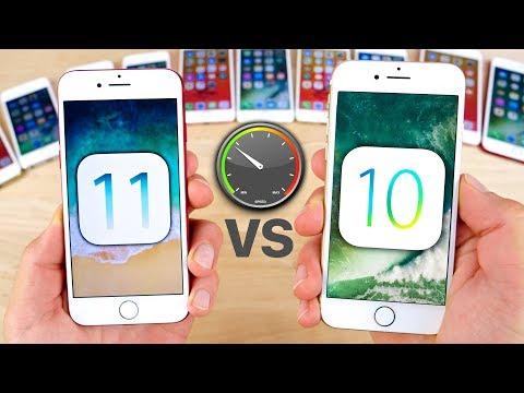 iOS 11 vs 10.3.3 Speed Test on ALL iPhones!