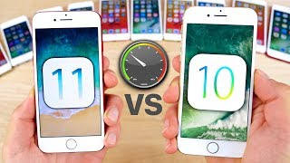 Video iOS 11 vs 10.3.3 Speed Test on ALL iPhones! download MP3, 3GP, MP4, WEBM, AVI, FLV September 2017