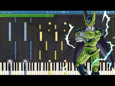 Perfect Cell Theme - Dragon Ball Z (Piano Tutorial) [Synthesia] midi sheets remix