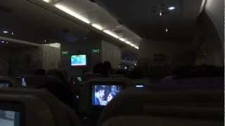 Onboard Emirates A380 from Singapore to Dubai