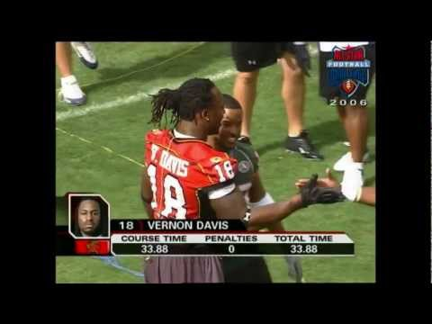 Former Maryland TE Vernon Davis highlight from 2006 All-Star Football Challenge