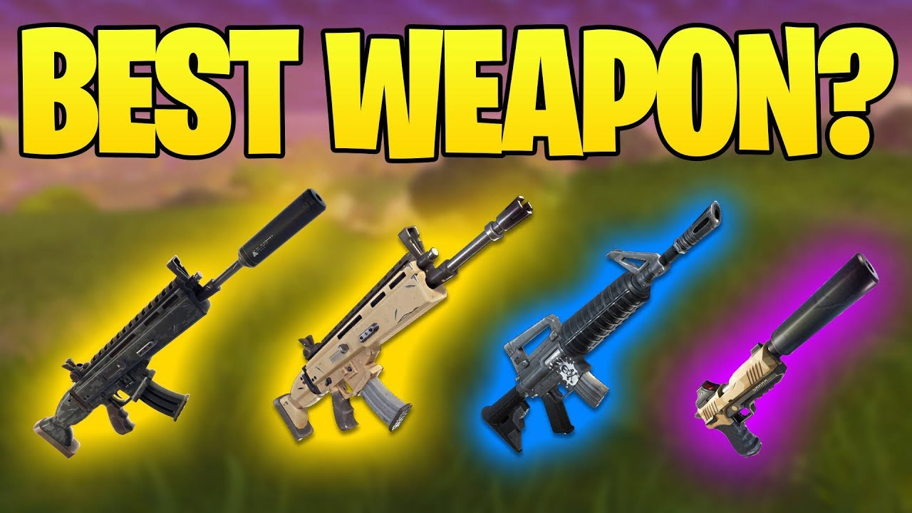 Suppressed Ar Vs Scar Vs Stealth Pistol Vs Blue Ar Best Weapon In Fortnite Compared