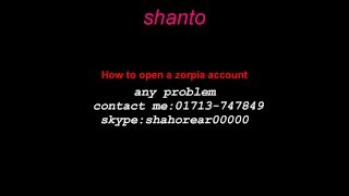 how to open zorpia aaccount