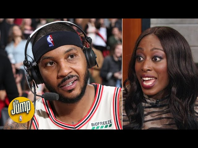 I told you Carmelo Anthony would be good on the Blazers - Chiney Ogwumike | The Jump