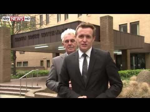 Max Clifford Creeps Up On Sky News Correspondent Tom Parmenter