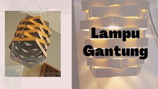 Cara Membuat Lampu Gantung dari Kardus // Mudah dan Berkualitas #handcraft #kerajinan