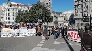 Movilización del campo asturiano.