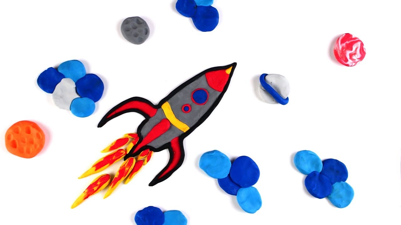 Sotopmotion Coloring with PlayDoh - ROCKET Animation Coloring - #StopMotion