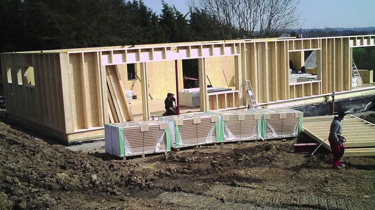 Le chantier d 39 une maison passive ossature bois de a z part 2 youtube - Maison passive en bois ...