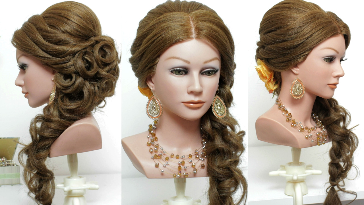 bridal hairstyle with curls