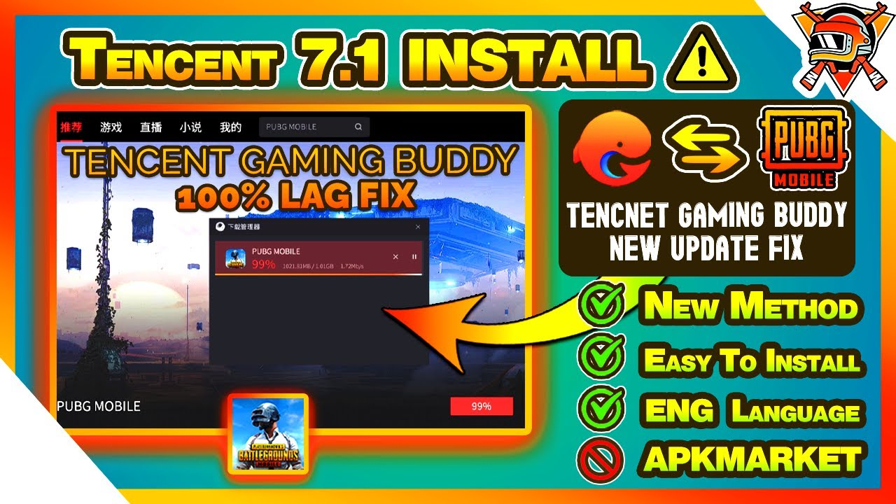 Tencent Gaming Buddy 7.1 New Update \u0026 PUBG Install | Fix PUBG Not Supported Issue [Eng Subtitle]