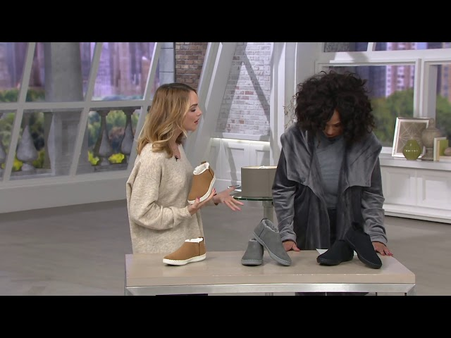 Skechers Go Vulc 2 Suede Faux Fur Booties on QVC
