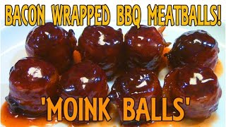 BBQ Meatballs Recipe - How to make 'MOINK BALLS'!!