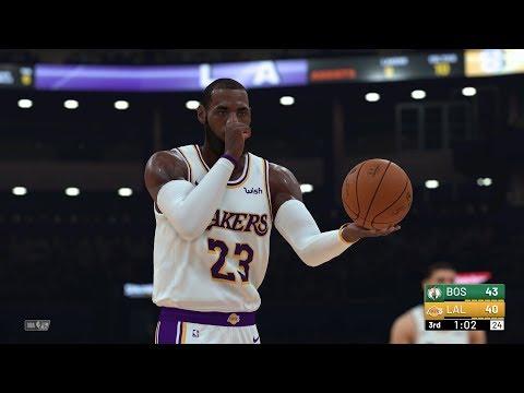 NBA 2K19 - Los Angeles Lakers vs Boston Celtics Full Match | PS4 Pro (4k 60fps)
