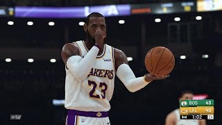 NBA 2K19 - Los Angeles Lakers vs Boston Celtics Full Match | PS4 Pro (4k 60fps)