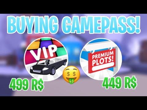 ROBLOX ADOPT ME ll BUYING VIP AND PREMIUM PLOT GAMEPASS