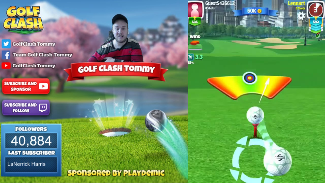 Golf Clash tips, Playthrough, Hole 1-9 - ROOKIE - Skyline Cup Tournament!