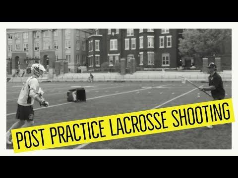Post Practice Lacrosse Shooting