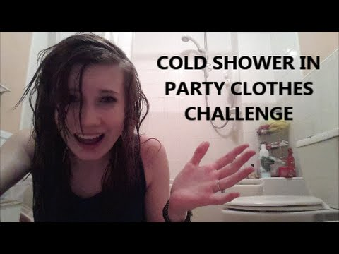 COLD SHOWER IN PARTY CLOTHES CHALLENGE