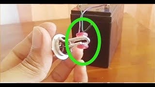 Simpel cara membuat Lampu Sepeda Motor Tunggal. 1x2 mata led