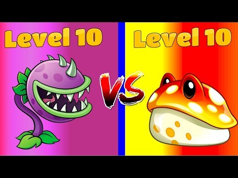 Plants vs Zombies 2 Toadstool (10) vs Chomper (10) Max Levels!