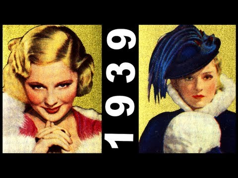 Hottest 30's Movie Stars Cinema 1930's Hair Fashion Idols Hats 1939 Cigarette Cards