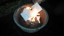 BINGO-Lose verbrennen
