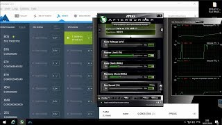 Palit GeForce GTX 1080 Ti JetStream 11GB ( Micron ) Майнинг в программе MinerGate