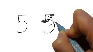 Превращаем ЦИФРЫ в забавных  ЖИВОТНЫХ 🦁 Рисуем легко и весело!