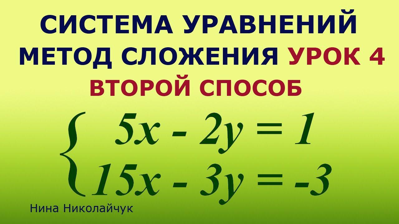 конспект урока по теме решение систем линейных уравнений способом сложения