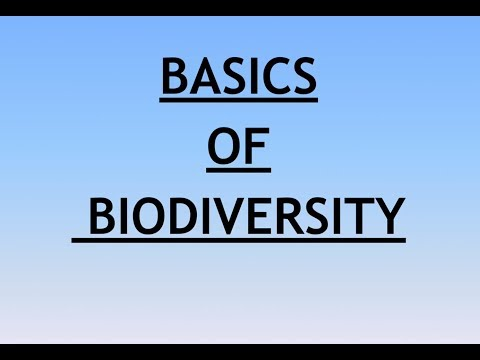 Environment and Ecology Lecture 7 - Basics of Biodiversity