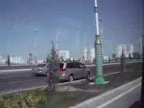 Traveling by bus trough Ashgabat