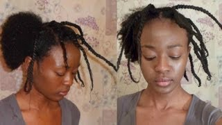 How To Stretch Natural Hair Using Thread *No Heat*