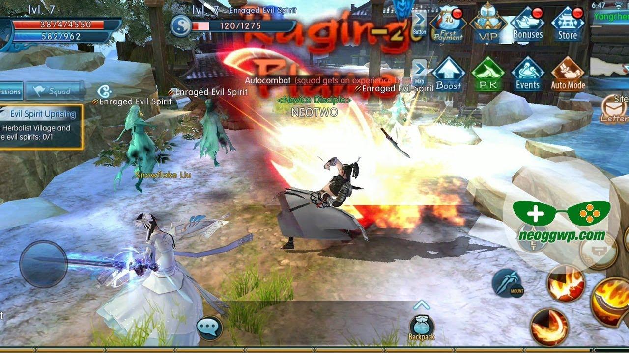 Jade Dynasty Mobile (Androidi iOS APK) - MMORPG Gameplay, Vim Lv 1-8 (CBT)