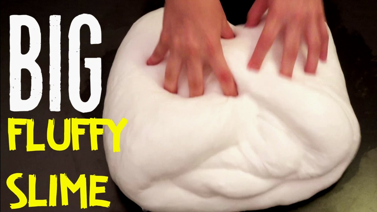 How To Make Nonsticky Fluffy Slime No Borax, Liquid Starch, Detergent,  Toothpaste Diy