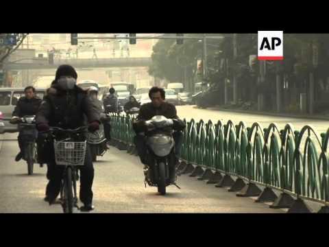 Air pollution a problem in Shanghai
