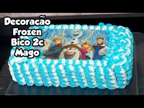 DECORAÇÃO BOLO  FROZEN COM BICO 2C MAGO PARA INICIANTES - Bru na Cozinha