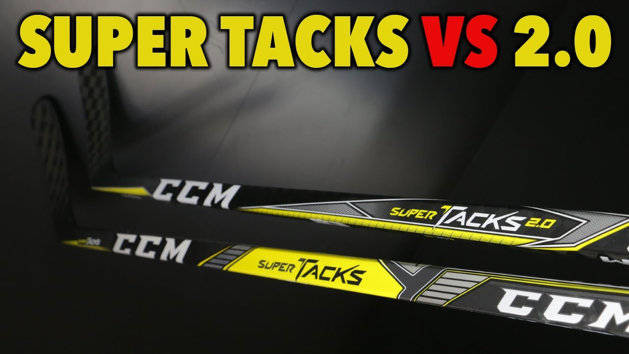 07203c28f1a CCM Super Tacks vs Super Tacks 2.0 Hockey stick review - YouTube