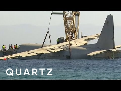 Turning a huge plane into an artificial reef