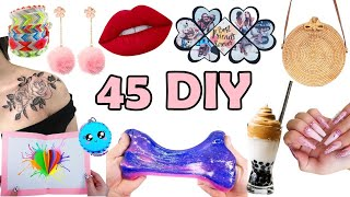 45 DIY PROJECTS TO MAKE WHEN YOU ARE BORED UNDER 5 MINUTES - QUARANTINE - BEST OF GIRL CRAFTS