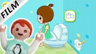 Playmobil Film deutsch | EMMA SPIELT ALLEINE AUFS KLO App - Toiletten Training | Familie Vogel