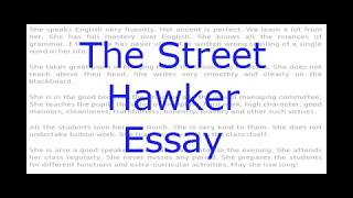 "Download Video Essay on ""The Street Hawker"" English Essay for Class 8,9,10 and 12. MP3 3GP MP4"