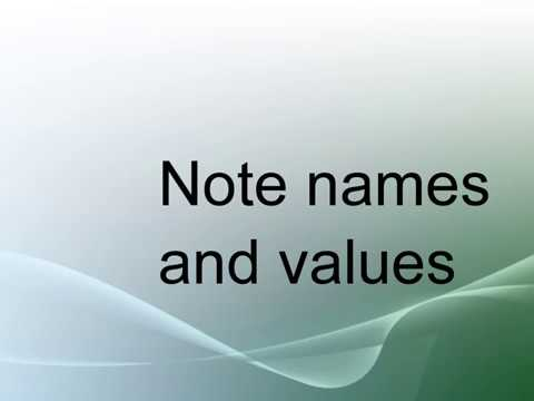 Note names and values