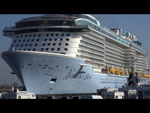 4K Video Experience | ANTHEM OF THE SEAS Turn Around at Meyer Werft Shipyard