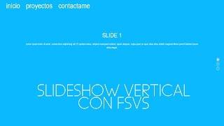 SLIDESHOW VERTICAL PARA TU SITIO WEB CON FSVS | HTML CSS Jquery | CodingPlace