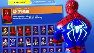 I have the SKIN SPIDERMAN on FORTNITE BATTLE ROYALE!